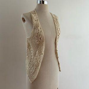 F21 Crocheted Vest